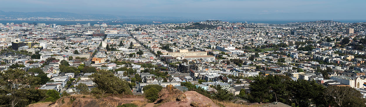 Panoramic photo of San Francisco