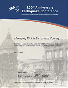 cover of managing risk brochure earthquake